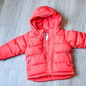 Red Hooded Frost-Free Jacket for Toddler